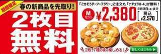 2016 2 ピザハット2枚目無料.jpg