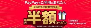 ヤフーショッピング PayPay 最大半額クーポン.jpg
